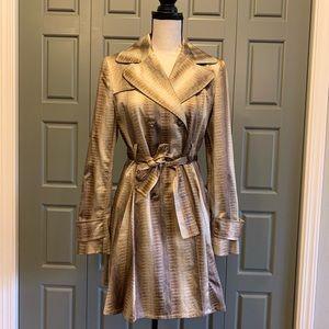 Helene Berman Snakeskin Fit & Flare Coat